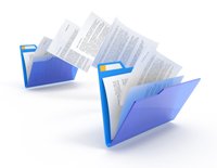 picture of open file folders